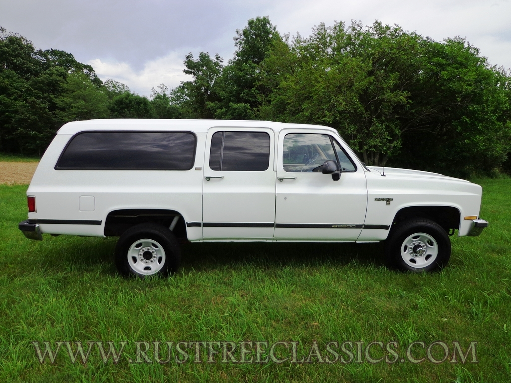 1991 Chevy V20 Suburban Fully Loaded Silverado White Chevrolet 91 4x4 3  4 Ton